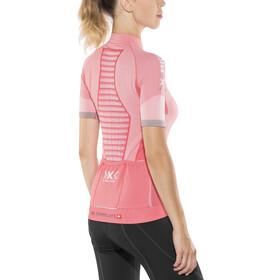 X-Bionic Race Evo Fietsshirt korte mouwen Dames, pink paradise/pearl grey